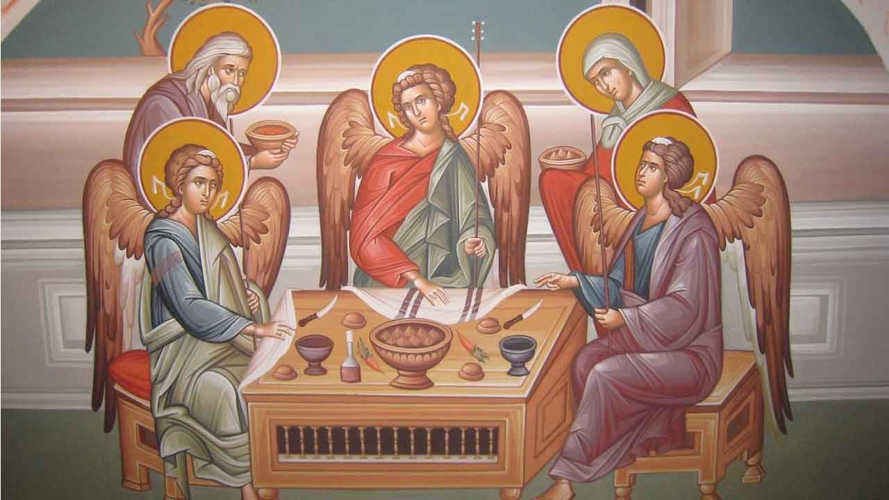 Κυριακή Δ' Νηστειών - Ιωάννου της Κλίμακος - Απόστολος Κυριακής - Η Φιλοξενία του Αβραάμ - Απάρχη - Θεολογία